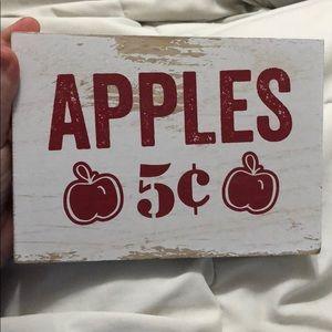 Vintage Apples Sign